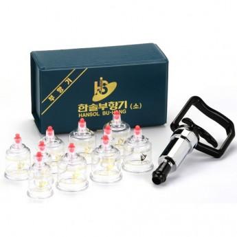 10 X Cups Cupping Set Vacuum Body Massage Manual Healthy Suction Pump Korea
