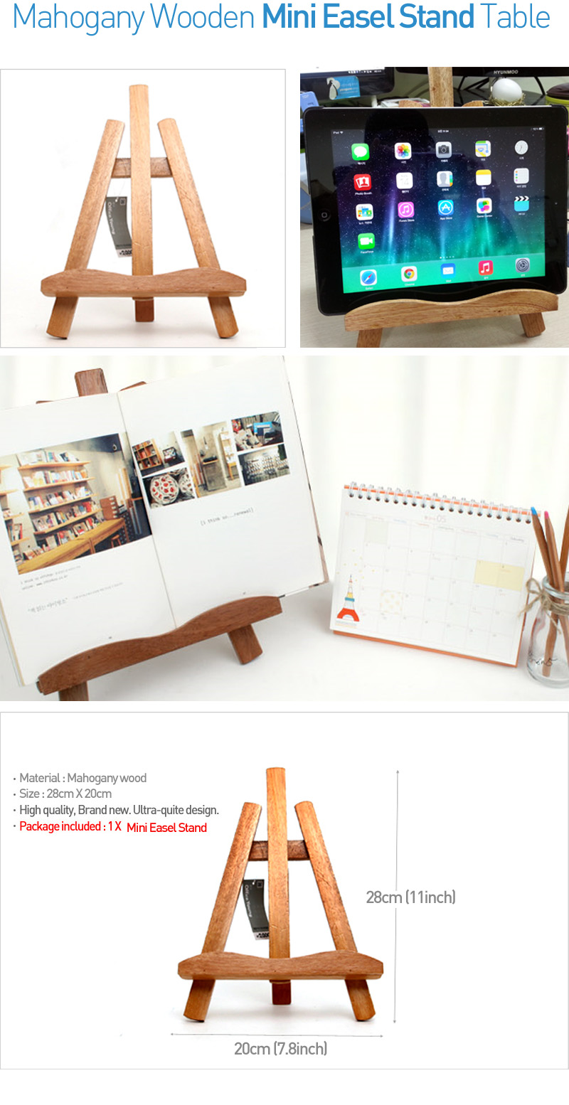 Small Exhibition Stand Sizes : Mahogany wooden mini easel stand table small size display