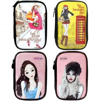 Cosmetic pouch Enamel Travel Makeup bag Pencil Case Storage Purse