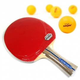 2 X Table Tennis Rackets Two-sided Ping-pong balls Paddles