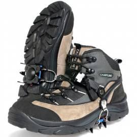 Anti-slip Snow Ice Shoe Spikes Climb Ice Crampon Walking Cleat 4P Gold