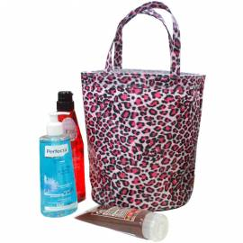 Beach Shopping Bag Mesh Tote Leopard Pattern Purses Waterproof