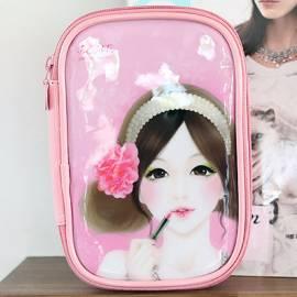Cosmetic pouch BOMI Travel Makeup bag Enamel Pencil Case