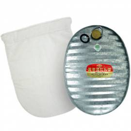 3.6L Hot Water Bottle Zinc Steel Heat Warm Camping Matal Japan