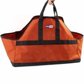 Firewood Carrier Bag Orange Wood Tote Canvas Carrying Bag Holder