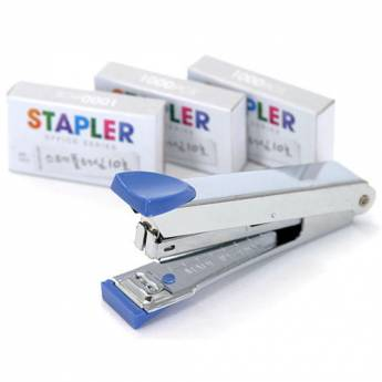 Desk Stapler with 3 Staples packs Desktop Mini Set