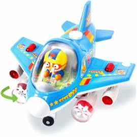 Pororo Little Jumbo Airplane Toy Light Moter Moved 18 Melody