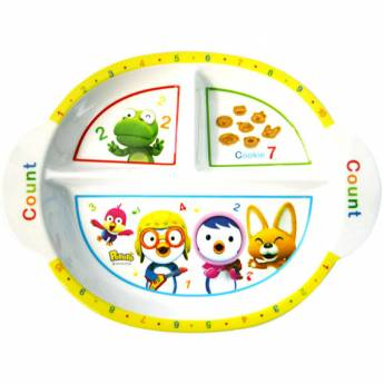 Pororo Kids Food Tray Melamine Ellipse Food Lunch