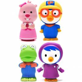 Pororo Cute Soft Dolls 4pcs Push Sound Character Toys