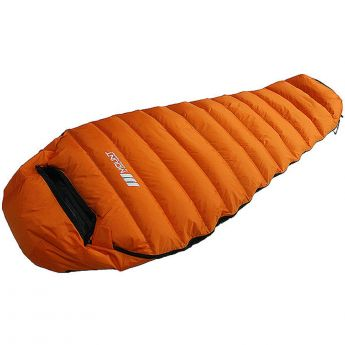 Duck Down Sleeping Bag 600g Orange 3 Season Camping Korea