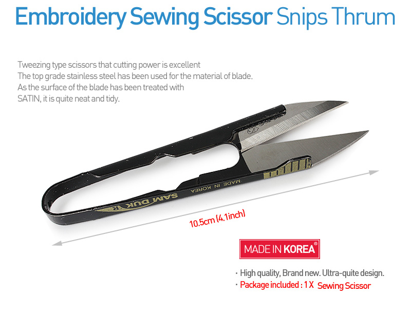 Embroidery sewing scissor